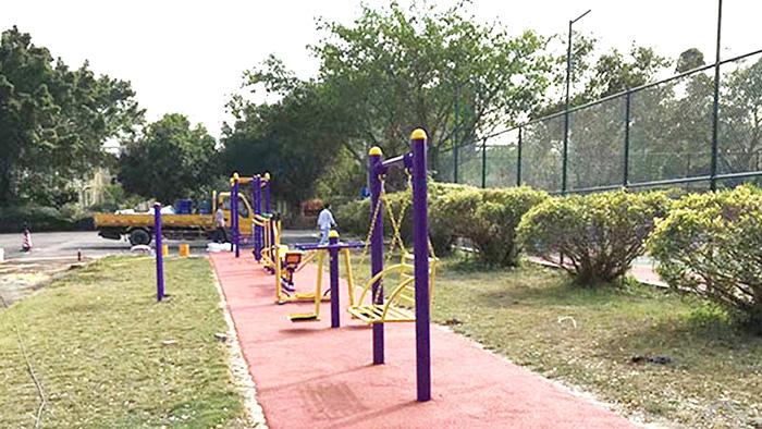 惠州水口街道提前完成室外健身器材更新和新建