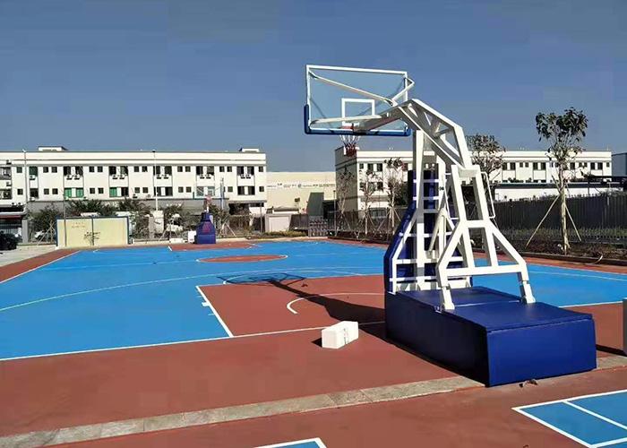 弹簧折叠篮球架