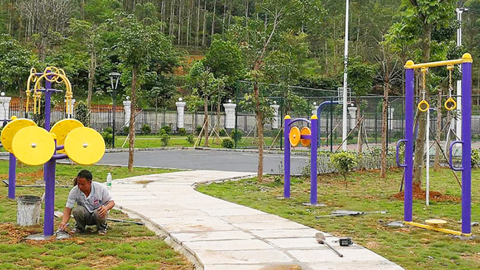 佛山桂园社区公园是休闲公园也是大家的健身乐园