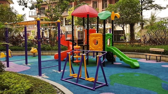 给力牌数字可转动儿童滑滑梯入住来宾市胜利艺术幼儿园