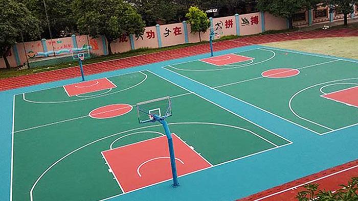 阳江富康小区篮球架旧貌换新颜 燃烧你的卡路里