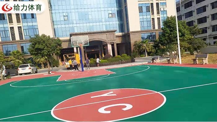 彩色篮球场造价