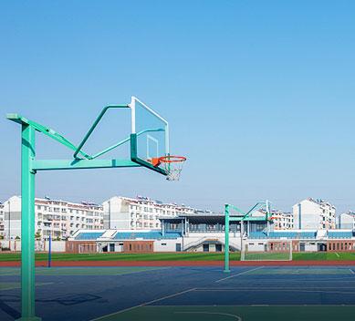学校篮球架安装