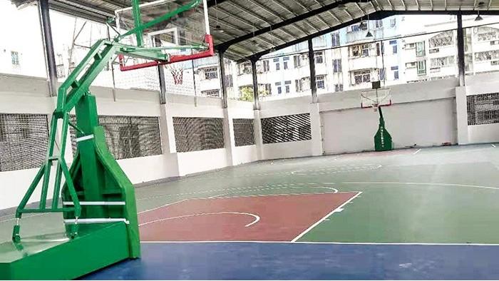 移动篮球架安装