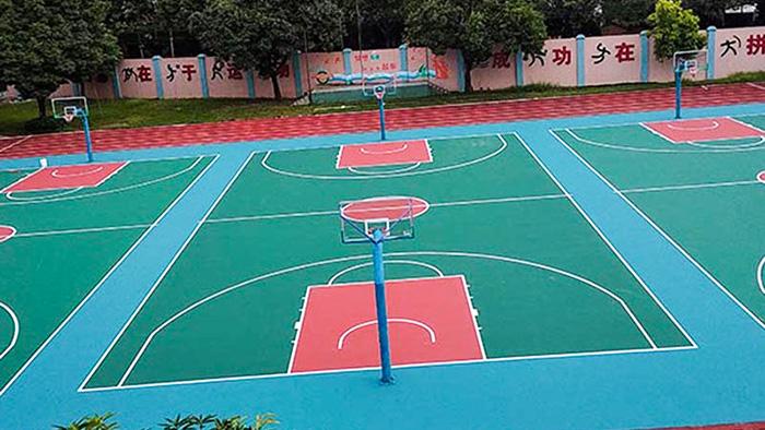 彩色篮球场造价低
