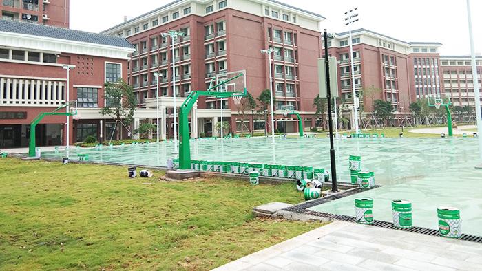 广东江门广雅投资学校篮球架和室外体育器材工程