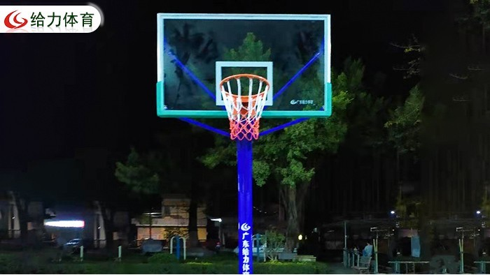 独柱篮球架